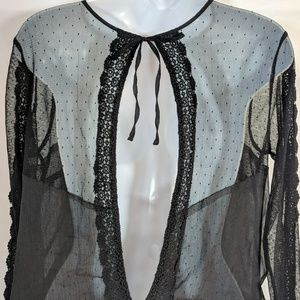 Free People Tops - Free People Black Lace and Mesh Top